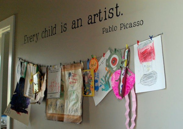 DIY Child Art Display