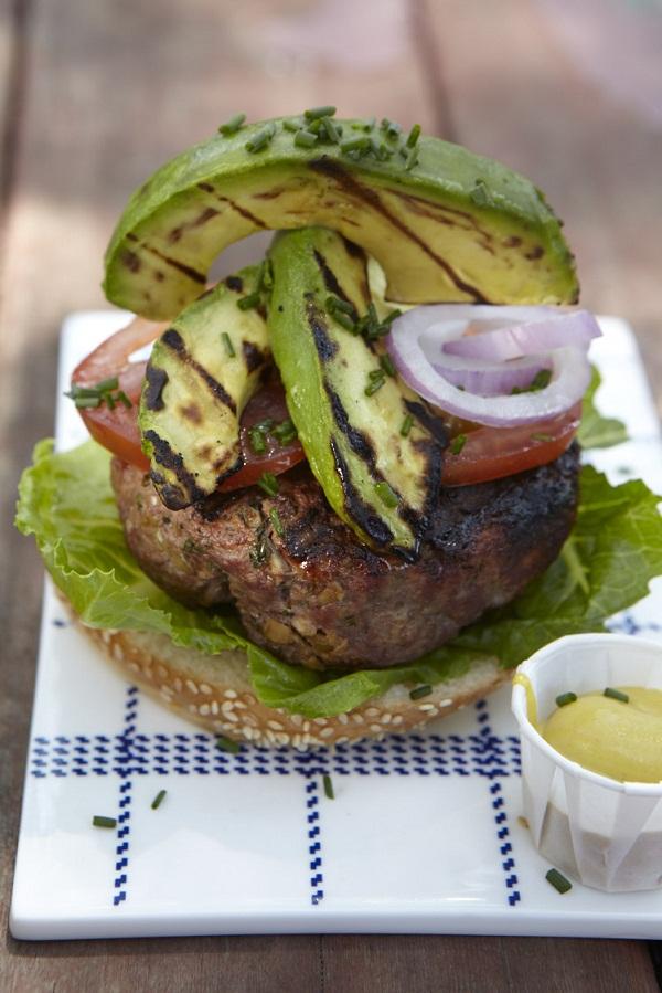 avocado on burger