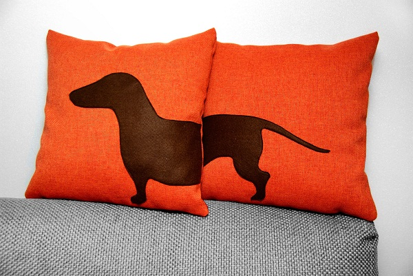 Dachshund Pillow Orange