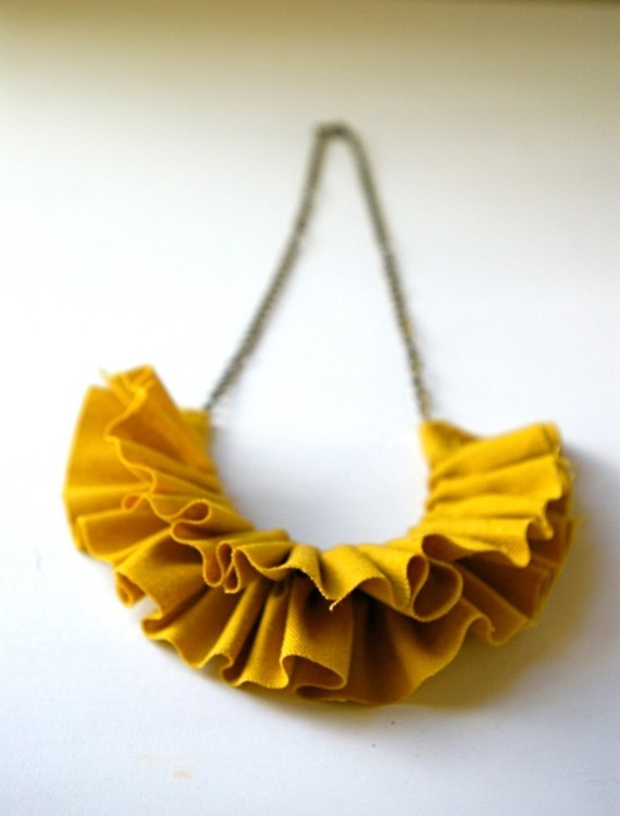 ruffled necklace yellow fashion