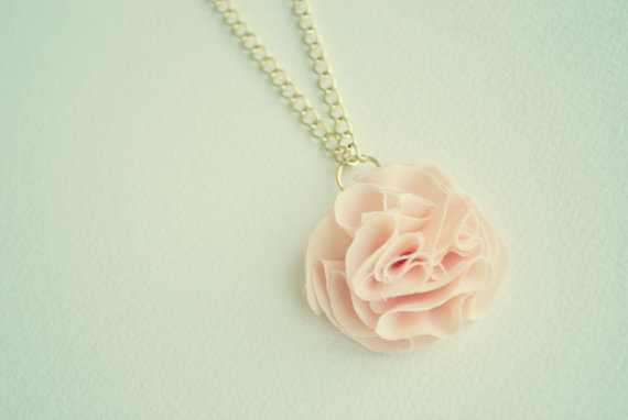 ruffled rose pendant necklace fashion jewelry