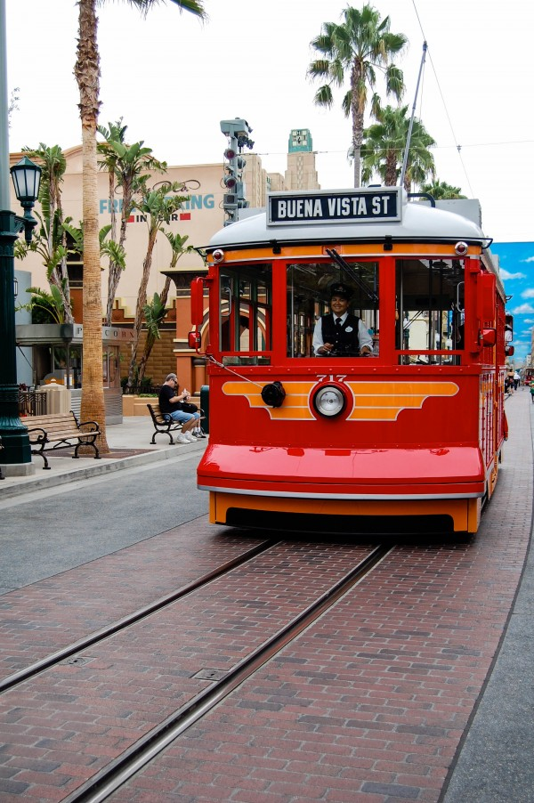 Trolley Buena Vista Street California Adventure momspark.net