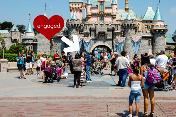 engagement proposal Disneyland sleeping beauty castle momspark.net