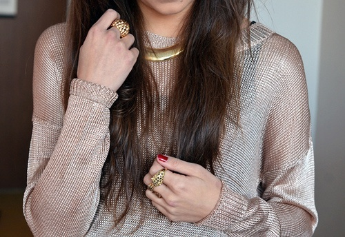 gold sheer blouse