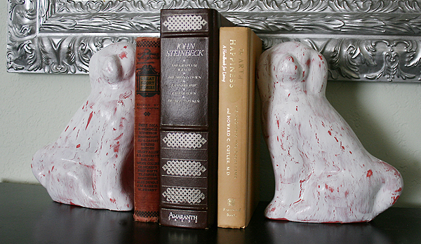 DIY: Bookends from Home Decor Statues momspark.net