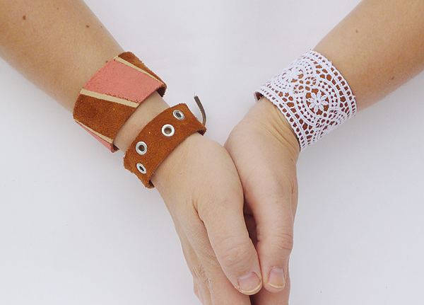 DIY On Trend Leather Cuffs momspark.net