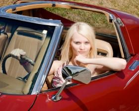 Woman in Corvette