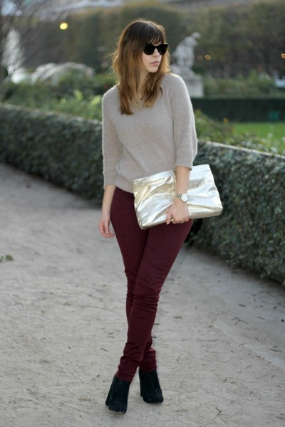 red pants women's fashion
