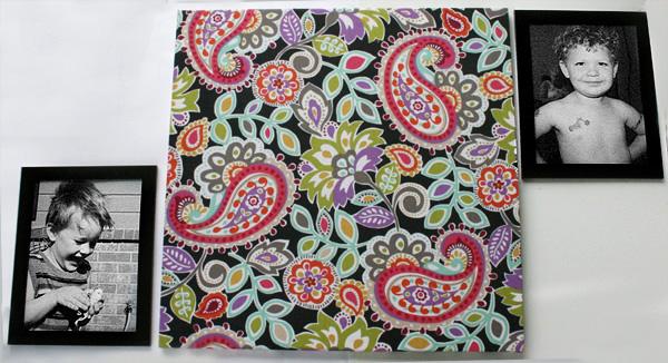 DIY Craft: No Canvas Needed Fabric Wall Art momspark.net