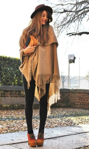 women's brown shawl fashion