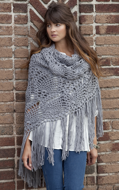 women's gray shawl fashion
