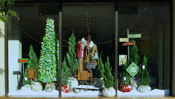 Downtown Wintertime Shop Windows