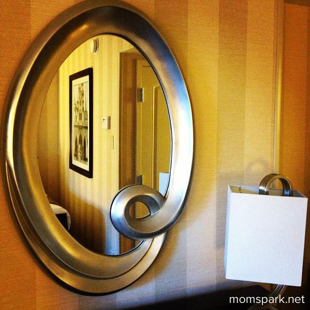 Disneyland Hotel Room Mirror momspark.net