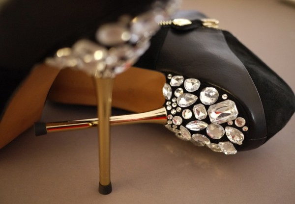 Jeweled High Heels DIY Craft Shoe