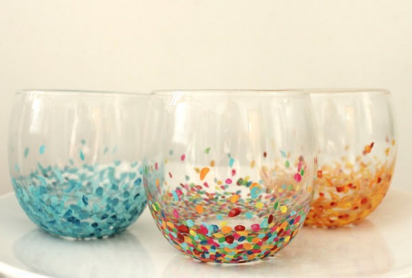 Anthropologie Inspired Confetti Glasses DIY Craft