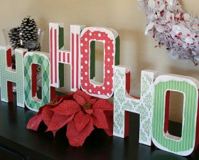 Modge Podge Christmas Decor Tutorial Craft momspark.net