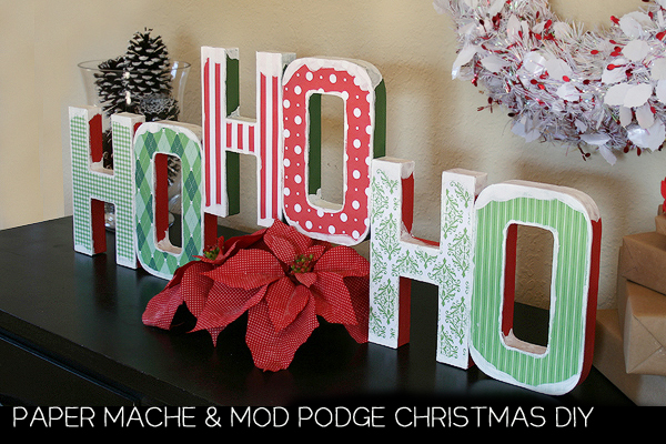 Mod Podge Christmas Decor Tutorial Craft momspark.net