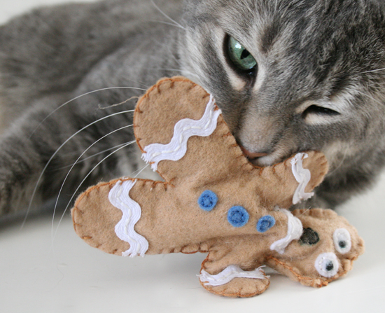 Gingerbread Man Cat Toy DIY Craft