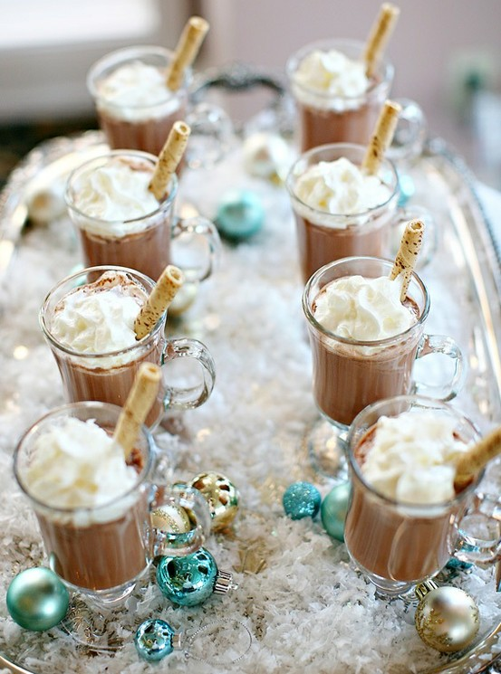 Mini Hot Chocolates Holiday Party