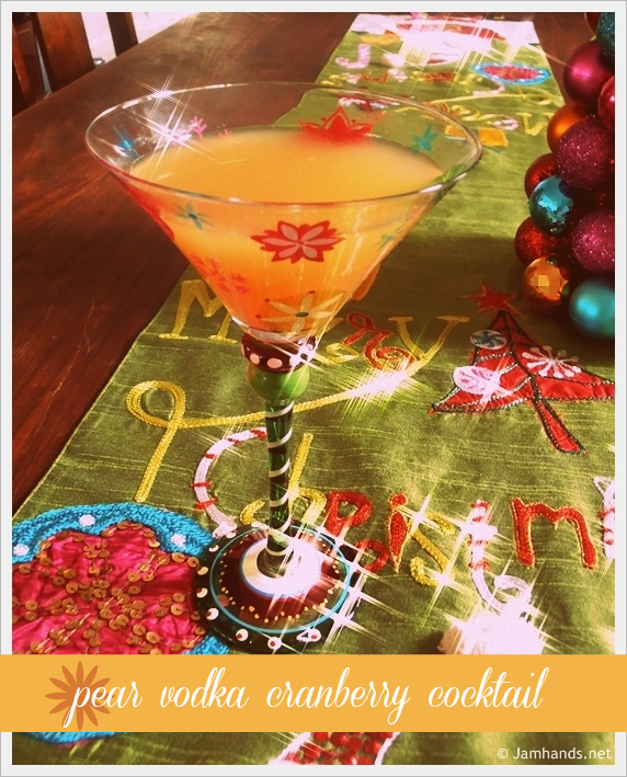 Pear vodka cranberry cocktail recipe mom spark mom blogger for Pear vodka mixed drinks