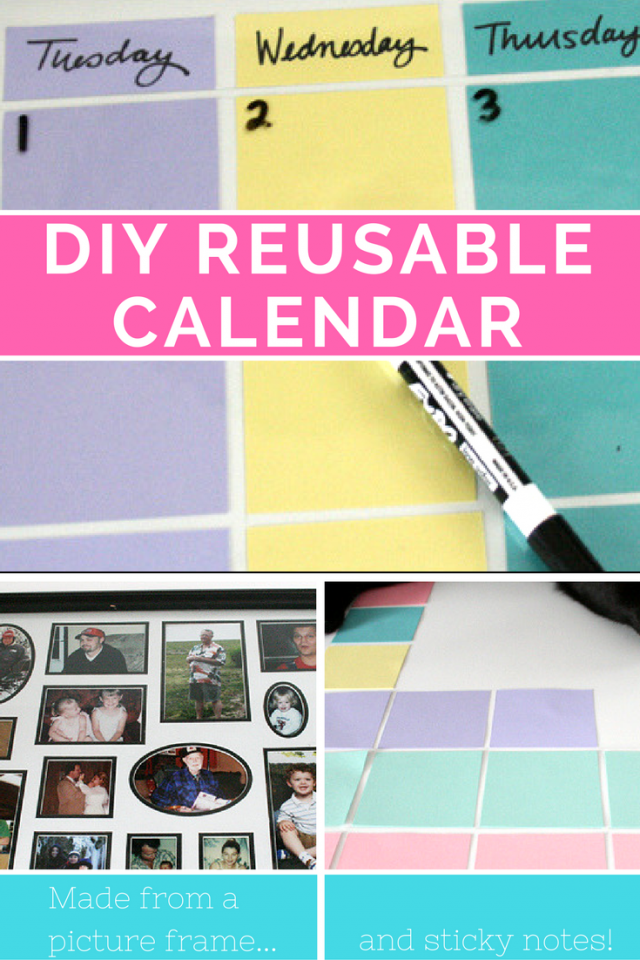 Make a Reusable Calendar for 2017 and Beyond (craft tutorial)