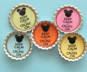 Disney Cruise Bottle Cap Door Magnet - feature