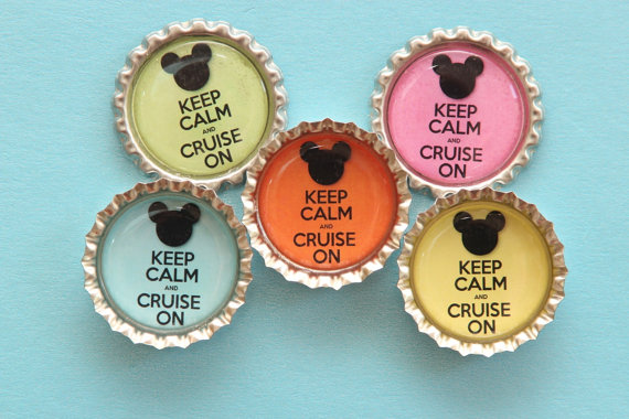 Disney Cruise Bottle Cap Door Magnet