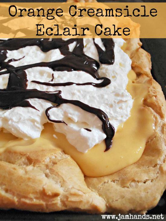 Orange Creamsicle Eclair Cake