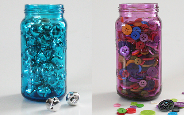 DIY Craft: Bright, Colorful Mason Jars with Mod Podge (tutorial) momspark.net