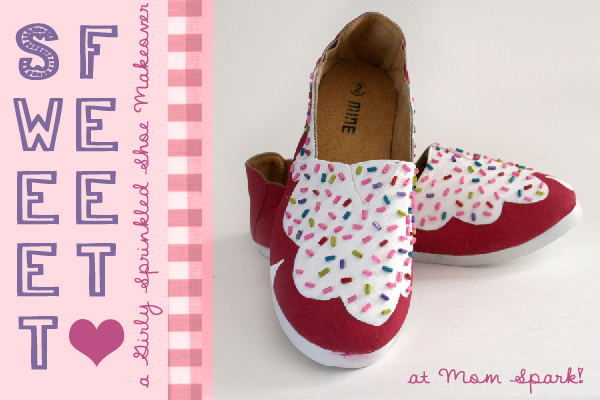 Shoe Makeover: Sweet Cupcake-Inspired Girls Shoes Tutorial momspark.net