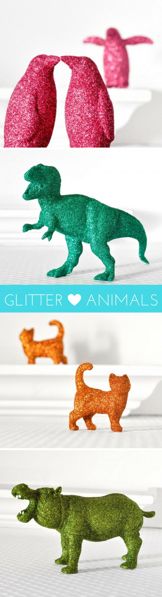 Glitter Animal Statues