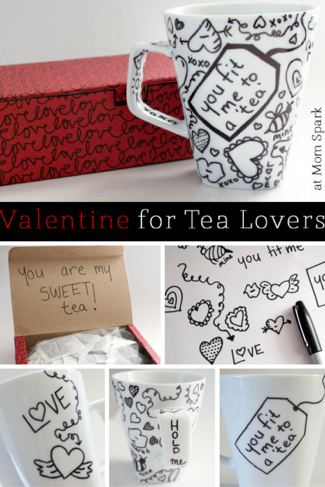 How to Make a Writable Tea Mug Gift for Valentine's Day! (tutorial)
