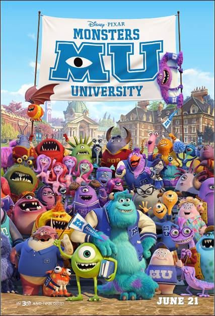 Monsters University MU Poster