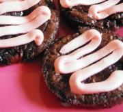 Cherry Brownie Bites with Cherry Cream Cheese Drizzle Dessert Recipe