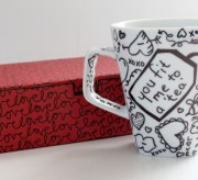 Writable Tea Coffee Mugs for Valentine's Day! (tutorial) momspark.net