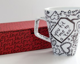 Writable Tea Coffee Mugs for Valentine&#039;s Day! (tutorial) momspark.net