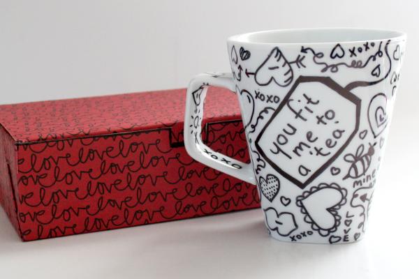 Writable Tea Coffee Mugs for Valentine's Day! (tutorial) momspark.net