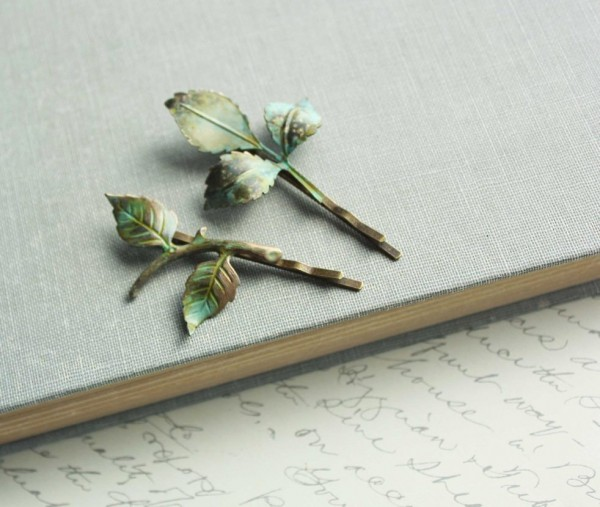Green Branch Pin Jewelry