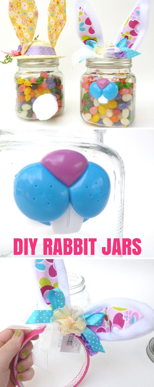 Somebunny Rabbit Gift Jars - Easter Craft Tutorial
