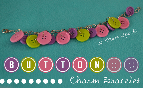Easy and Cute Button Charm Bracelets Craft Tutorial momspark.net