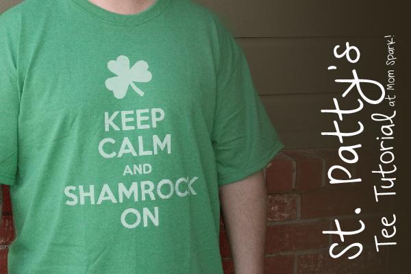 St. Patrick's Day T-Shirt Stencil Tutorial momspark.net