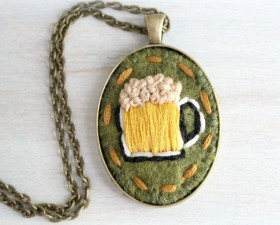 St. Patrick's Day Mug Necklace