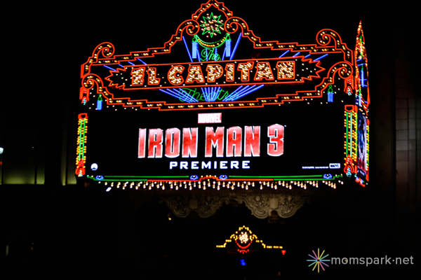 Iron Man 3 Red Carpet Premiere El Capitan