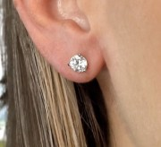 Enter to Win Diamond Nexus Round Stud Earrings
