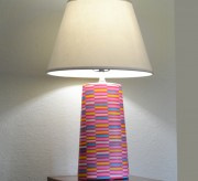 Mod Podge and Gift Wrap Lamp (tutorial) momspark.net