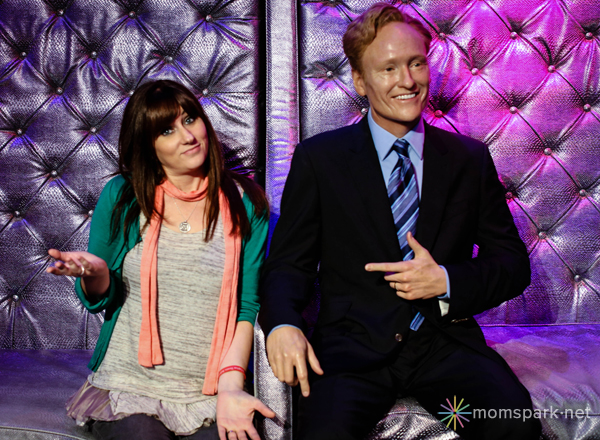 Conan O'Brien Wax Figure Madame Tussauds Hollywood