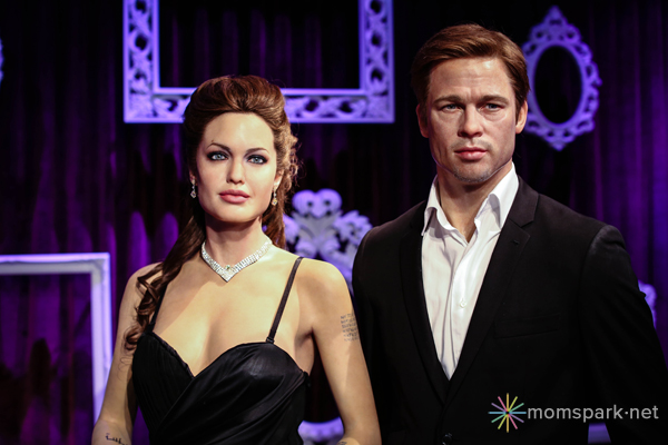 Brad and Angelina Wax Figure Madame Tussauds Hollywood