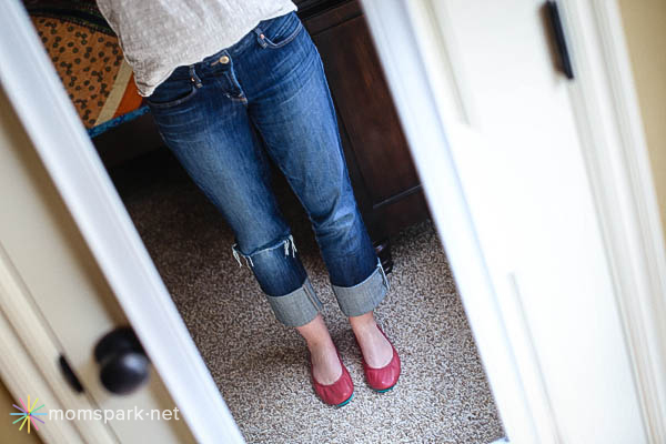 Red Tieks in Mirror