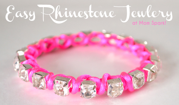 Easy Rhinestone Jewelry Tutorial momspark.net
