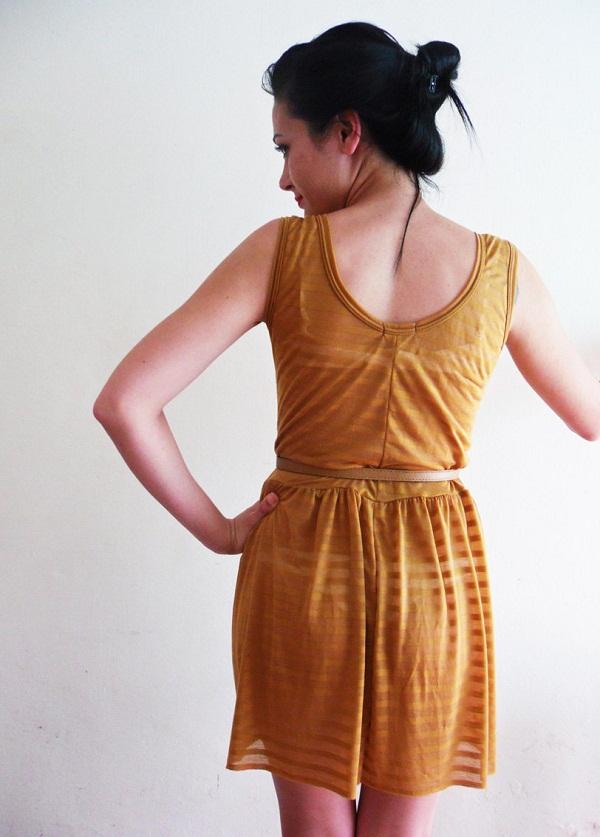 Mustard Yellow Dress Spring Fashion